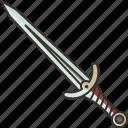 sword, blade, weapon, battle, knight