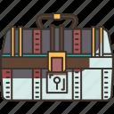 treasure, chest, wealth, container, antique
