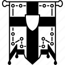 heraldic, flag, royal, badge, banner