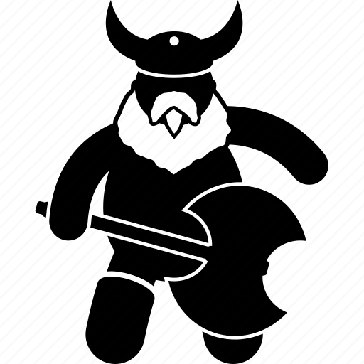 axe, fighter, fighting, man, medieval, viking, warrior icon