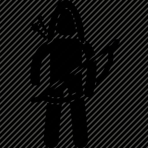 archer, archery, arrows, bow, infantry, soldier, warrior icon