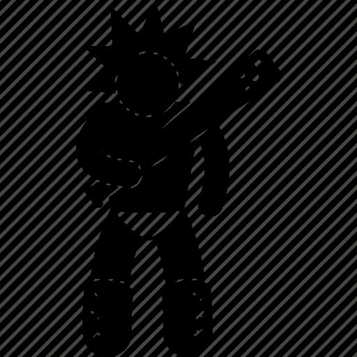 barbarian, man, person, rough, uncivilized, warrior icon