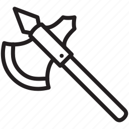 axe, halberd, medieval, poleaxe, weapon icon