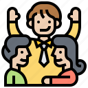 colleagues, corporate, coworker, partner, teamwork icon