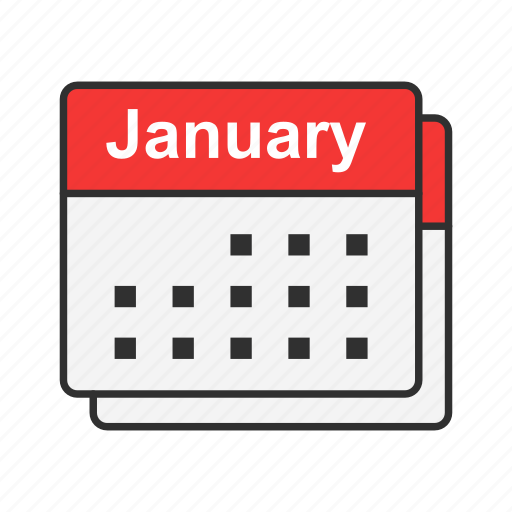 calendar, date, events, january icon