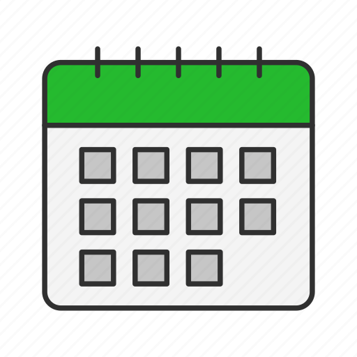 calendar, date, events, time icon