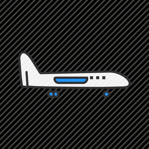 Airplane, jet, plane, transportation icon - Download on Iconfinder