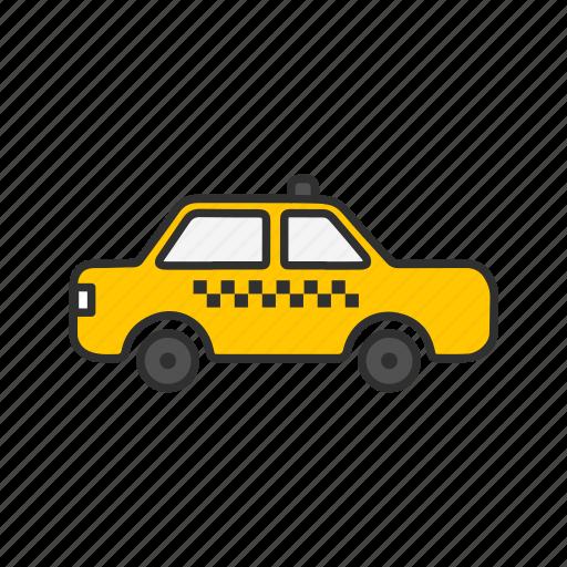 cab, taxi, transportation, yellow cab icon