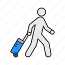 navigator, suitcase, traveler, vacation icon
