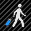 navigator, suitcase, traveler, vacation icon