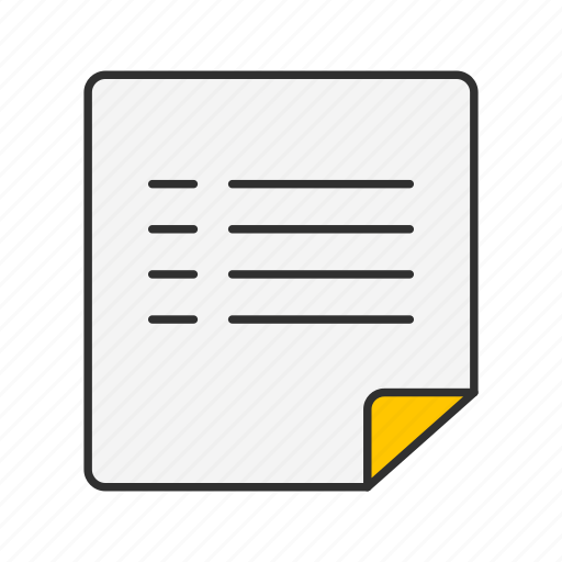file, letter, list, note icon