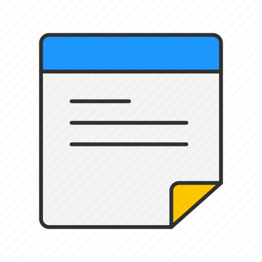 file, letter, message, note icon