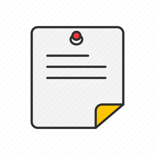 message, notes, paper, post it icon