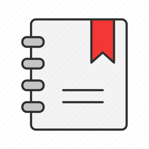 book, bookmark, list, notebook icon