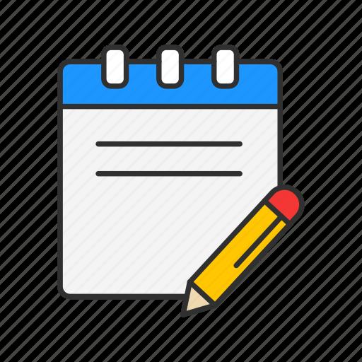 journal, list, notebook, planner icon