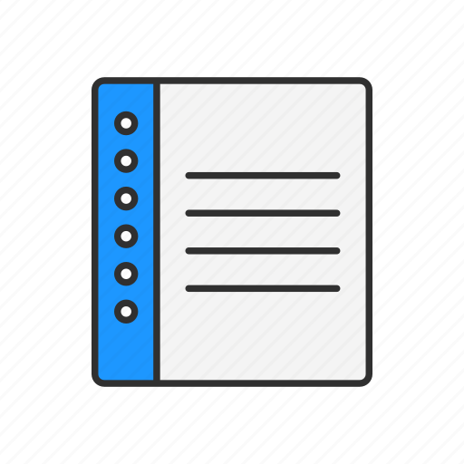 book, list, notebook, planner icon