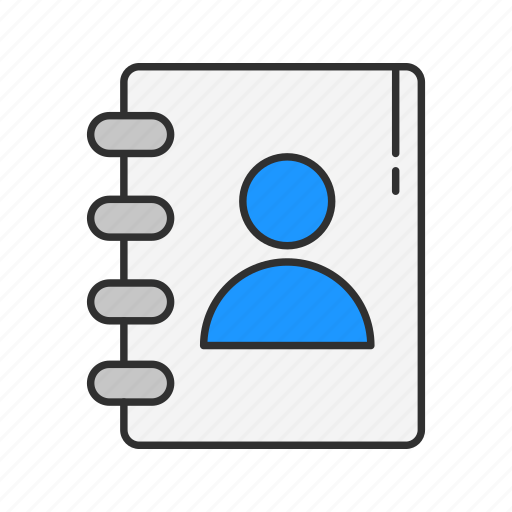 contact, friends, phonebook, planner icon