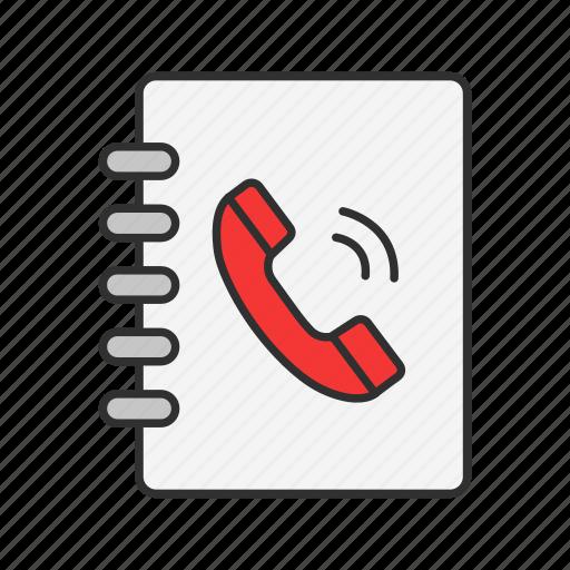 book, call, contact, phonebook icon