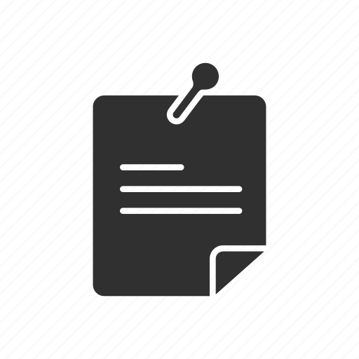 bulletin, list, pin, post it icon