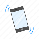 alarm, mobile, phone ringing, smart phone icon