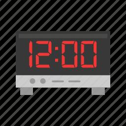 alarm clock, date, digital clock, timer icon