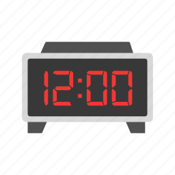 alarm clock, clock, digital clock, time icon