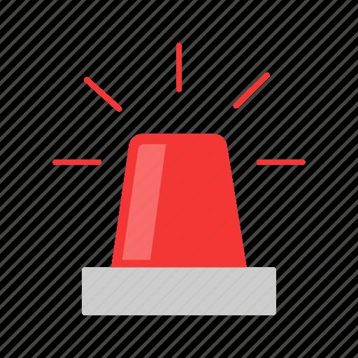 alarm, red alert, siren, warning icon