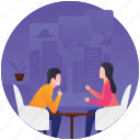 dine out, discussion, gathering, meeting, meetup icon