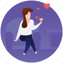 date, dating, dinner date, love meeting, romantic meeting icon