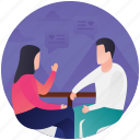 discussion, get together, interaction, meeting, meetup icon