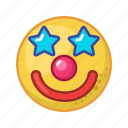 clown, face, mask, party, happy, smile