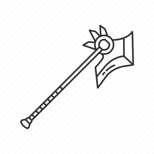 axe, melee, stick with blade, tool, tree, tree cutter, weapon icon