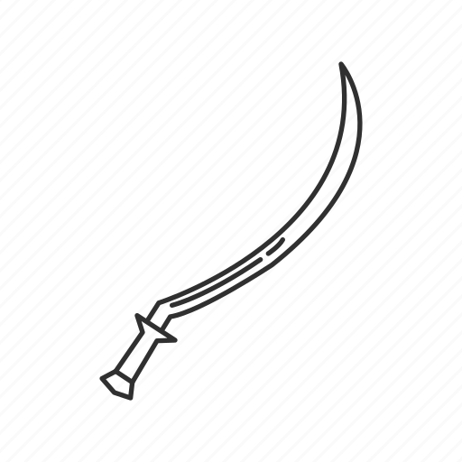 blade, curved sword, melee, shotel, sword, weapon icon