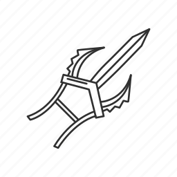assassin, katar, melee, stab, stealth kill, war, weapon icon