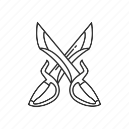 blade, butterfly sword, dual, martial, melee, sword, weapon icon