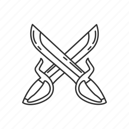 blade, bytterfly sword, dual, matial, melee, sword, weapon icon
