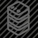 data center, database, memory, server, storage icon