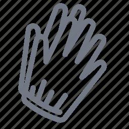 cloth, fashion, glove icon