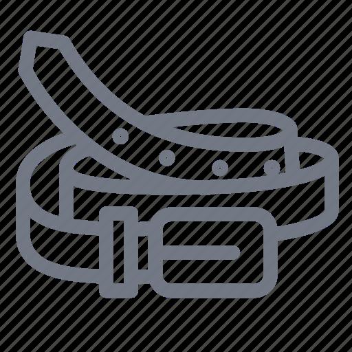 belt, cloth, fashion, leather belt icon