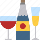 alcohol, champagne, drink, party, wine icon