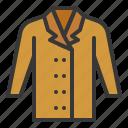 coat, fashion, male, clothes icon