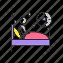 insomnia, sleep deprivation, sleep deprivation icon, sleeplessness