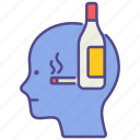 alcohol, alcoholism, disorder, drugs, illness, mental health, smoking icon