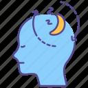 disorder, illness, mental health, narcolepsy, night, paralysis, sleep icon
