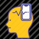 disorder, illness, mental health, nomophobia, phobia, smartphone, social addict icon