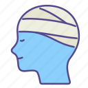 gauze, healing, healthcare, medical, mental health, patient, treatment icon