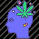 addict, depression, disorder, drug, illness, marijuana, mental health icon