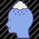 anxiety, depression, disorder, illness, mental health, psychiatric, sad icon