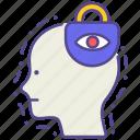 disorder, fear, illness, mental health, paranoia, phobia, social anxiety icon