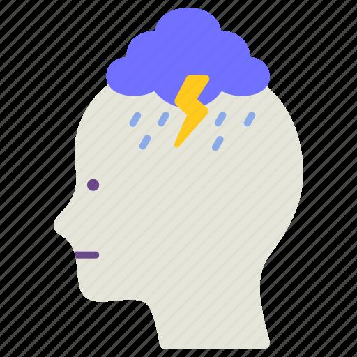 depression, disorder, illness, mental health, ptsd, stress, trauma icon